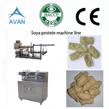 Vagan soy protein chunks machine