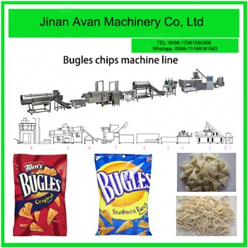 Automatic corn wheat bugles snacks machine